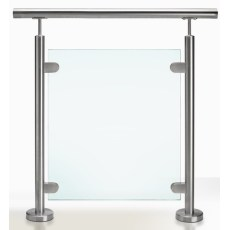 Stainless Steel Glass Balustrade Post Floow Mount