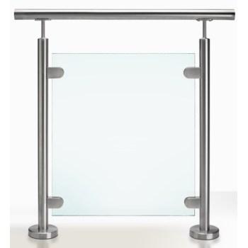glass balustrade post floow mount