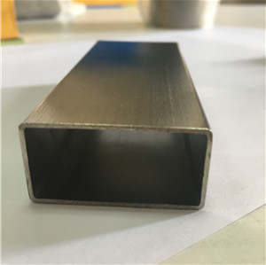 Stainless Steel tig welded rectangular tube satin finish