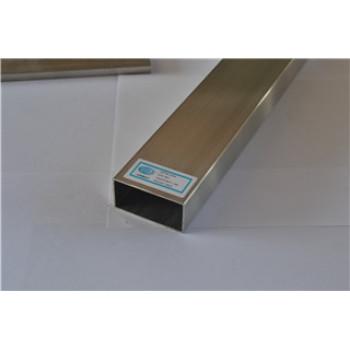 Stainless Steel tig welded rectangular tube 240 grit finish