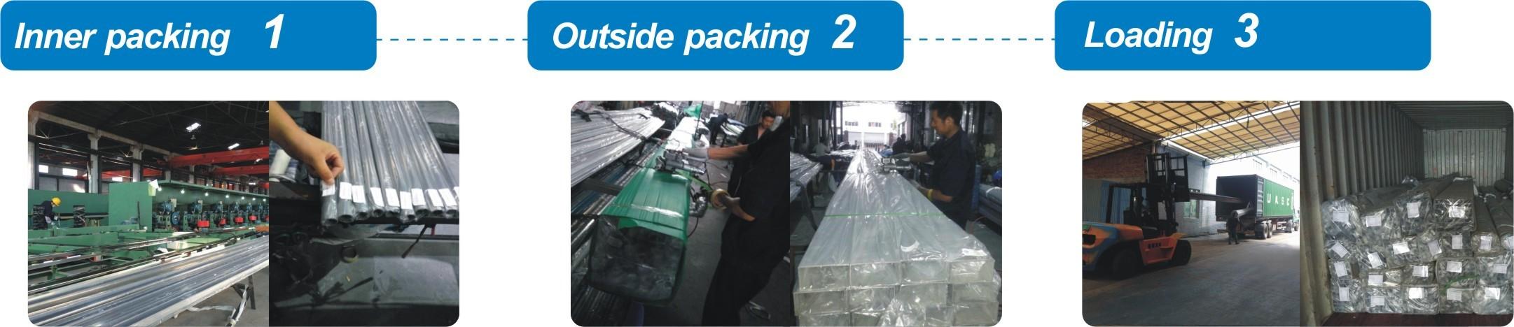 stainless steel rectangular tube packaging
