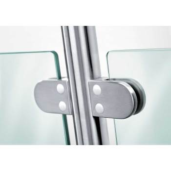 Stainless Steel Glass clamp 40x50 curved mount