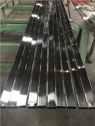Tubo cuadrado de encargo del acero inoxidable de la decoración 304 polacos