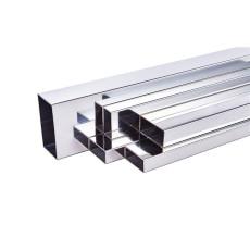 400 Grit Rectangular Stainless Steel Pipe