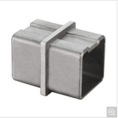304 Satin Finish Inline Tube Square Connector