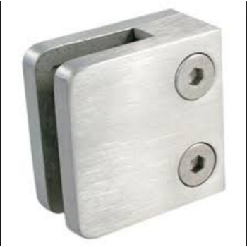 square glass clamp flat mount