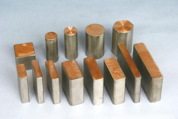 样品:双层金属复合材料—钛包铜