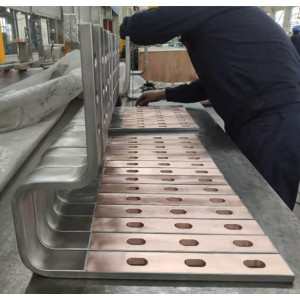 Titanium Copper clad bending punching busbar