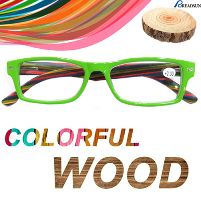 Colorful Wood reading glasses