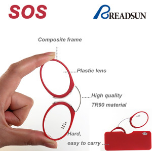 TR90 reading glasses of nose clip