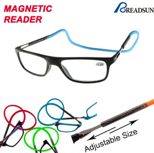 Magnetic clic reading glasses
