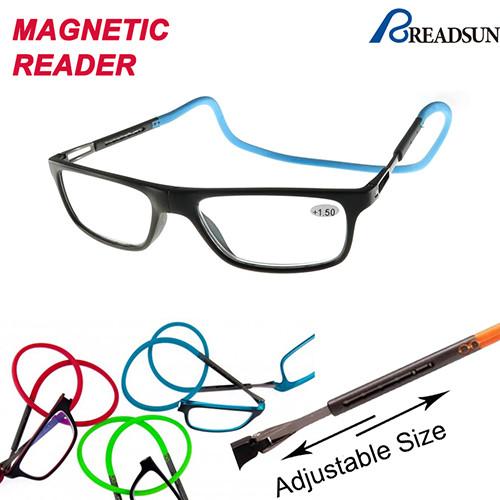 Magnetic clic reading glasses