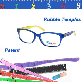 Teenager acetate optical frame with rubble temple