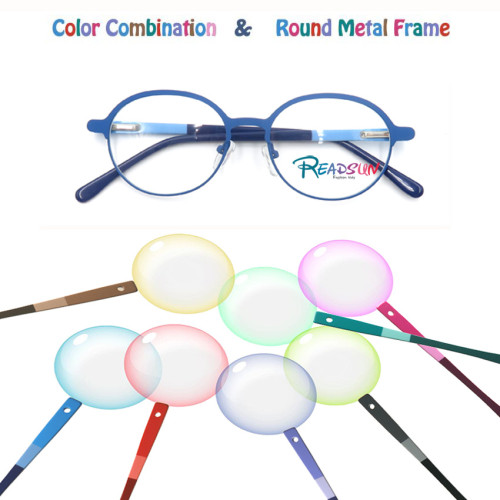 2018 New design wholesales round metal optical frame for adult,teenager