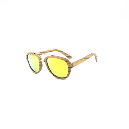 Fashion wood sunglasses 2018 with metal spring hinge