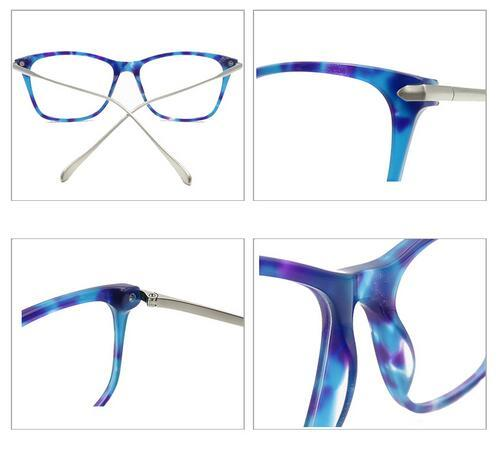 Optical Lens Glasses Acetate Metal Optical Glasses Frame with tortoise color