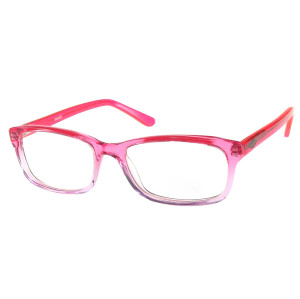 Progressive pink color women fashion optical frame with metal spring hinge