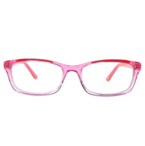 Progressive pink color women fashion optical frame with metal spring hinge