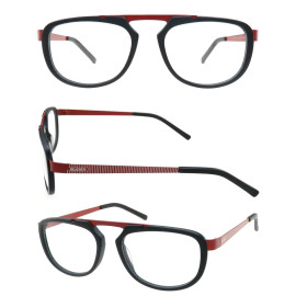 Original design fashion acetate optical frame with metal temple