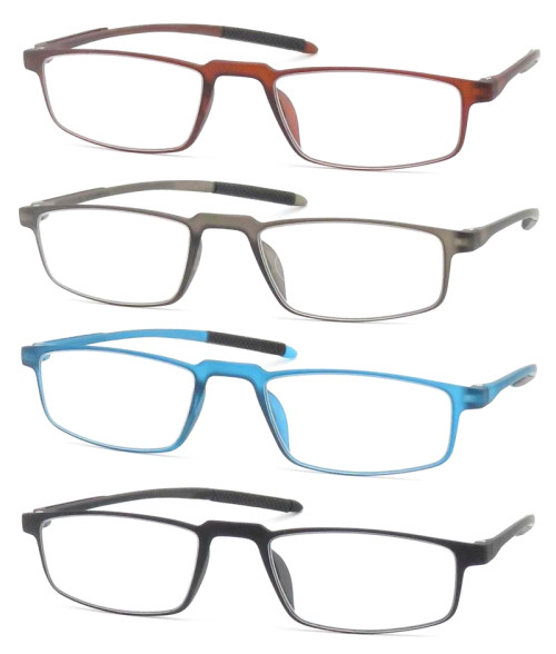2018 Reasun Light weight soft tr90 plastic reading glasses with plastic spring hinge