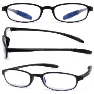 Comfortable Unisex plastic mens reading glasses