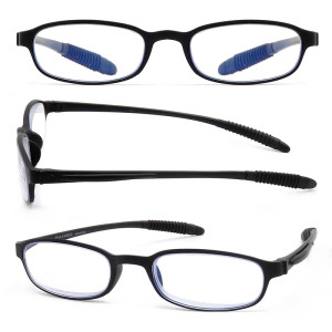 Comfortable Unisex plastic mens reading glasses