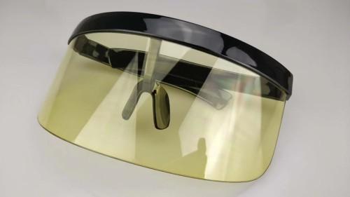 Sexy Oversized Shield Visor New Designer Big Frame Mirror Sun Glasses Shades Women Men Windproof Sunglasses