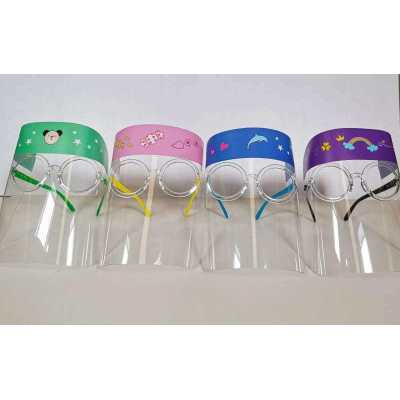 Transparent Anti Fog Kids Cute Safety Protective Face Shield