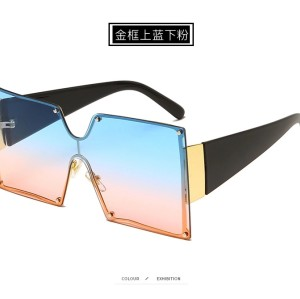 2020 New Arrivals Fashion Designer Square Frame Trendy Women Oversized Shades Sunglasses