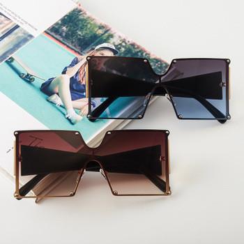 2020 New Arrivals Fashion Designer Square Frame Trendy Women Oversized Shades Sunglasses