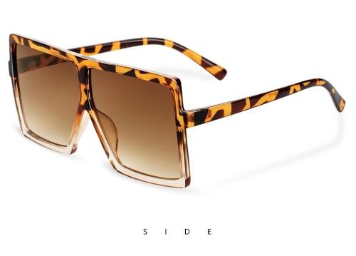 Oversize Sunglasses Fashion Women Sunglasses Black Square Sunglasses