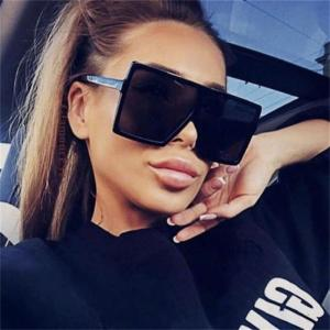 Oversize Sunglasses Fashion Women Sunglasses Black Square Sunglasses