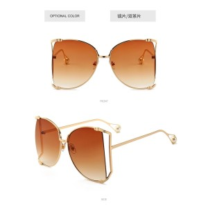 Custom Fashion Women's Big Frame Ocean Gradient Designer Shades Oversized Sunglasses