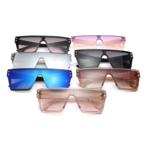 High Fashion Square Star Unisex Trendy Oversized Big Frame Womens Men Trendy Shades Sunglasses 2020
