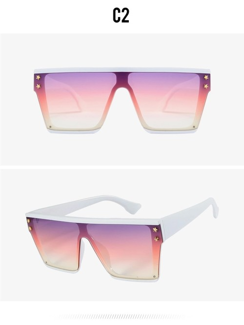 High Fashion Square Star Unisex Trendy Oversized Big Frame Womens Men Trendy Shades Sunglasses 2020