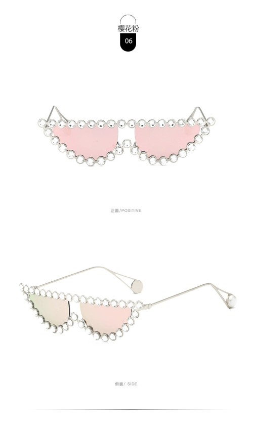 Newest 2020 Jewelry Vintage Designer Fashion Trendy Half Bling Diamond Rhinestone Shades Womens Sunglasses