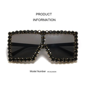 Wholesale Oversized Square Fashion Women Shades Sunglasses
