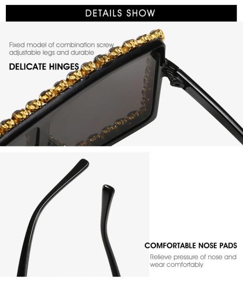 Wholesale Oversized Square Fashion Women Shades Sunglasses