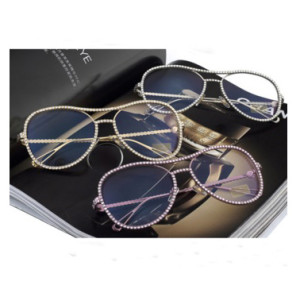 2020 Rhinestone Glasses Luxury Sunglasses Women