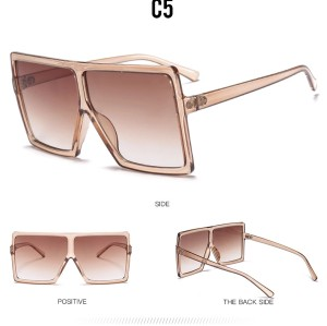 Fashion Designer Trendy Plastic Saqure Big Frame Oversized Wholesale Gafas Custom Sun Shades Sunglasses