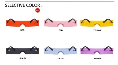 New Rectangle Women 2020 Fashion Luxury Brand Designer Red Pink Clear Small Lens Personality Shades UV400 Sunglasses