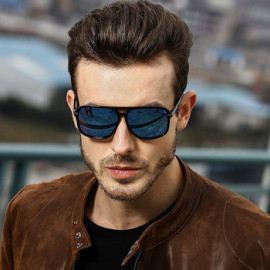Lentes De Sol Hombres Fashion Shades Men Hot Selling China Wholesale Vintage Polarized Driving Double Bridge Sunglasses