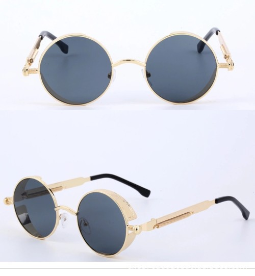 Wholesale Custom Gothic Round Metal Steampunk Sunglasses