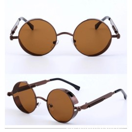 Wholesale Custom Gothic Round Metal Steampunk Sunglasses
