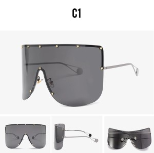 Newest Big Frame Women Men Sunglasses Oversized Wholesale Retro Decoration Shades Sunglasses Luxury
