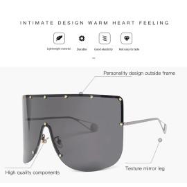 Newest Big Frame Women Men Sunglasses Oversized Wholesale Retro Decoration Shades Sunglasses Luxury