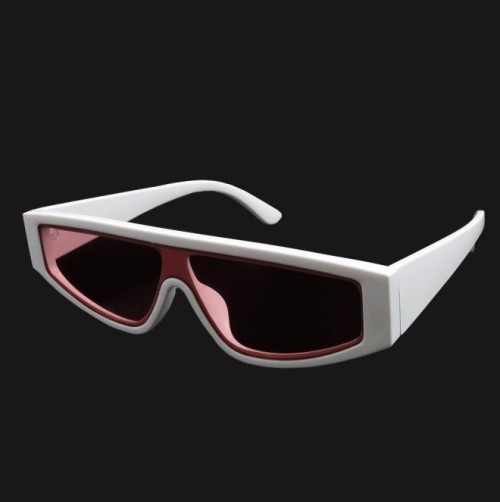 Trending Women Black Shades Fashion Integrated Sunglasses for Female Male