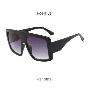 Trending Women Black Shades Fashion Integrated Sunglasses for Female Male