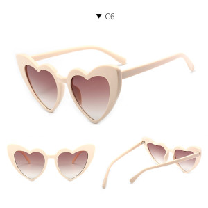 Wholesale 2020 Fashion Womens Heart Shape Sunglasses