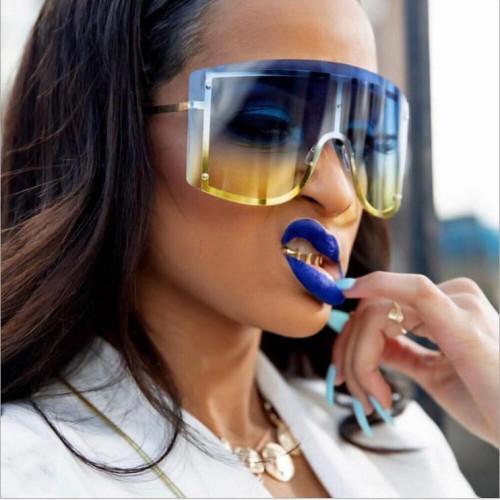 Newest Big Frame Women Men Sunglasses Oversized Wholesale Retro Rimless Shades Sunglasses